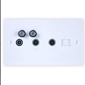TRIAX 304115 DDU Outlet Plate 2xSAT (2xSKY), TV, FM/DAB, Return, Phone Socket
