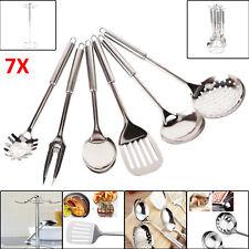 Küchenbesteck Küchenhelfer Hängeleiste Küchenutensilien Kochzubehör Set 7 tlg