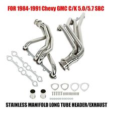 For 84-91 Chevy Gmc 5.0/5.7 Sbc Stainless Manifold Long Tube Header/Exhaust