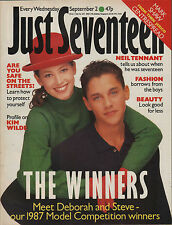 Just Seventeen Magazine 2 September 1987    Mark Shaw of Then Jerico   Kim Wilde