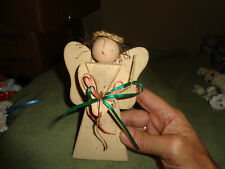 New Listinghand made wooden angel