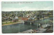 BELLEVILLE ONTARIO view across Maira River from City Hall Pub. Stedman Bros