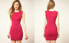 TED BAKER pink bodycon bandage panel fitted short dress club party races 3 12 M