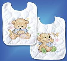 Cross Stitch Kit ~ Design Works / Tobin Baby Bears Bib Set (2 Bibs) #T21706