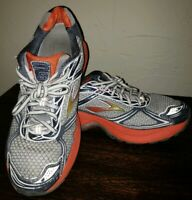 Brooks Ghost 5 Men's Size 10 (28cm) Running Shoes Silver Orange see pics