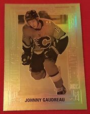 🏒18/19 UD Tim Hortons ☆GOLD ETCHINGS☆ JOHNNY GAUDREAU  GE-5 Free Shipping!!!