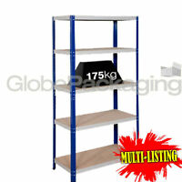 HEAVY DUTY SHELVING STORAGE RACKING FOR WAREHOUSE GARAGE OFFICE 1770x900x300mm