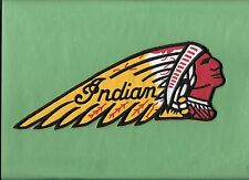 "New  Indian Motorcycle ""Indian Headdress 1 1/2 X 4 1/2 "" Iron on patch Free Ship"