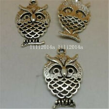 20pc Tibet Silver Animal Owl Pendant Charms Accessories Beads 15*25mm PL1019
