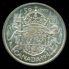 1954 Queen Elizabeth II, Silver Fifty Cent Piece, Mint!   F164