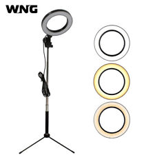 """6"""" LED Ring Light Adjustable Video Light Dimmable with Tripod and Selfie Stick"""