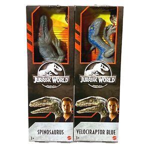 Lot Jurassic World Park Fallen Kingdom Spinosaurus & Velociraptor Action Figure