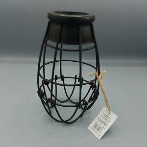 Portfolio 7.25 in H 4.62in W French Bronze Wire Industrial Cage Pendant Light