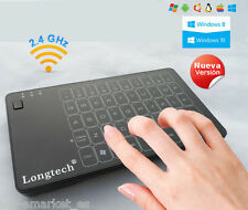 Raton - Teclado tactil touchpad inalambrico + receptor USB 2.4Ghz Win Linux Mac