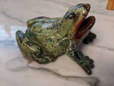 Vintage Cast Iron Frog Door Stop Classic Garden Amphibian Collectible Piece