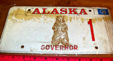 Alaska License Plate 1976 Governor 1 Kodiak Bear Style Plate Unique Collectible