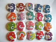 "20 Care Bears 1"" flat back Buttons."