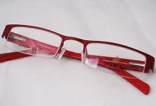 New Derby Half Rim Eyeglass Glass Frame-Red