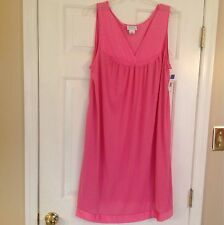 Vanity Fair Knee Length Nightgown - Pink Size Large