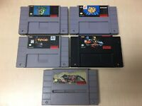 Lot of 5 SNES Super Nintendo Games Authentic TESTED & CLEANED, No Sports!!