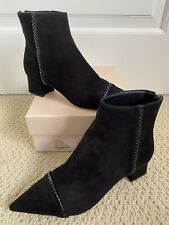 NIB Alexandre Birman Adeline Stitch Black Suede Pointed Ankle Boots 41 11 $850