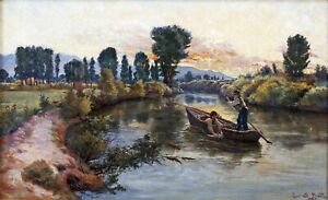 Fishing Along the Cache River : Lorus Bishop Pratt : Archival Quality Art Print