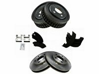 For 1997-2005 Buick Century Brake Pad Rotor Shoe Drum Kit Front and Rear 79318QW