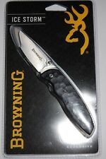 Browning Black Ice Storm Linerlock Folding Knife - Free Shipping!