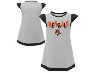 Outerstuff NFL Toddler Girls Cincinnati Bengals First & Ten Cap Sleeve Dress
