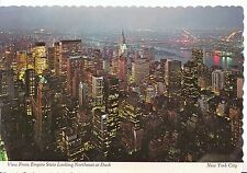 America Postcard - New York City - View from Empire State at Dusk   SM28
