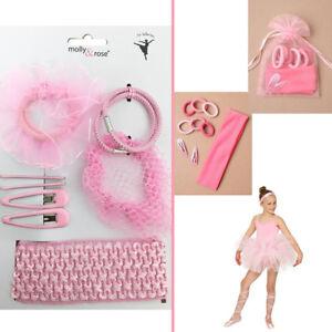 Hair Bun Ballet Set Ballerina Pink HairBand Sleepie Clip Bobble Girl Dance Snood
