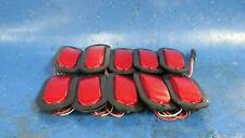 """6"""" Oval Red  LED Marker Lights (10) pcs - Stop Tail Turn Rear Park Truck Trailer"""