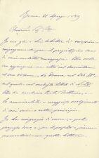 Lettera Autografa Avvocato Francesco Gloria Tribunale Supremo Guerra Marina 1889