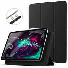 iPad Pro 12.9 Case Magnetic Flip Closure Smart Cover Auto Sleep Wake Stand Black