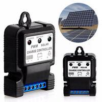6V/12V/24V 10A Auto Solar Panel Ladegerät Ladegerät Regler PWM IP30 Schwarz NEU