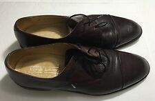 Johnston & Murphy Brown Leather Cellini  Men's Sz 10 Made in Italy