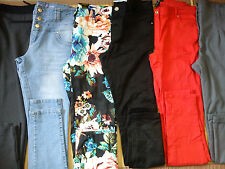 NICE USATO NUOVO 6x Bundle Donna Jeans Pantaloni Attillati Taglia 12 (3)