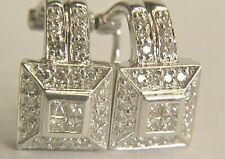 1.28 twc DIAMOND EARRINGS IN 14K WHITE GOLD
