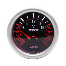 2'' 52mm Car Auto Volt Voltmeter Voltage Meter Gauge Smoke Tint Lens Red Needle