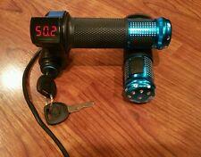 60v 72volt Electric Scooter E-Bike Digital Display BLUE Throttle Grip Handlebar