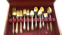 Vintage Gothic International Deep Silver  Silverware Set Flatware 64 pcs