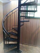 Wrought Iron Plain Balustrade  Spiral Staircase 1500 diameter BRAND NEW