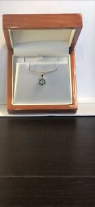 Brand New! 9CT Yellow Gold 0.35CT EMERALD Pendant  - Sold Without Chain!
