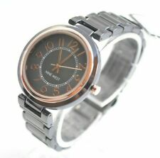 Nine West Grey Dial Gunmetal Bracelet Quartz Ladies Watch