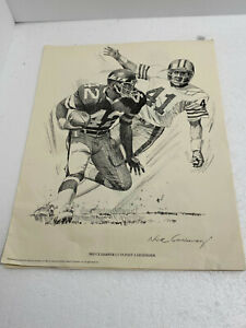 6 Shell Oil Company 1981 NFL New York Jets Sketches
