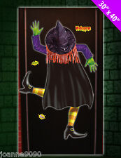 Halloween 3D Crashed Hanging Green Witch Door Or Window Poster Banner Decoration