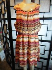 Women's Multi-Colored Sleeveless One Loop Button Front DELIRIOUS Dress Size 1X