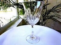 """Set of 4 Fostoria Kimberly Pattern Clear Crystal Water Glasses 7 3/8"""" Tall"""