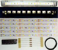 5 Stück 150mm LED Waggon Innenbeleuchtung Kaltweiß Bausatz Analog/Digital C3210