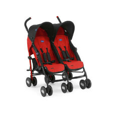 CHICCO Passeggino Echo Twin Garnet Doppio Duo Gemelli Gemellare Double Stroller